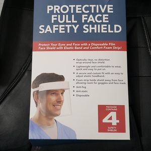 4 Protective Full Face Safety Shields Bundle
